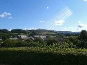 Sunshine over Brecon